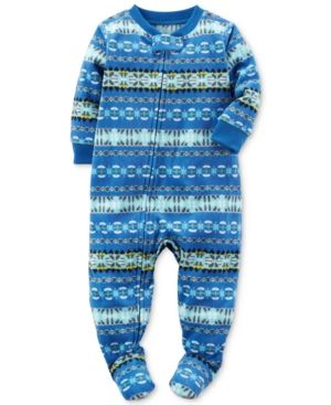 Carter S 1 Pc Fair Isle Footed Pajamas Baby Boys 0 24 Months Blue 24 Months Products Baby Boy Pajamas Carters Baby Boys Baby Kids Clothes