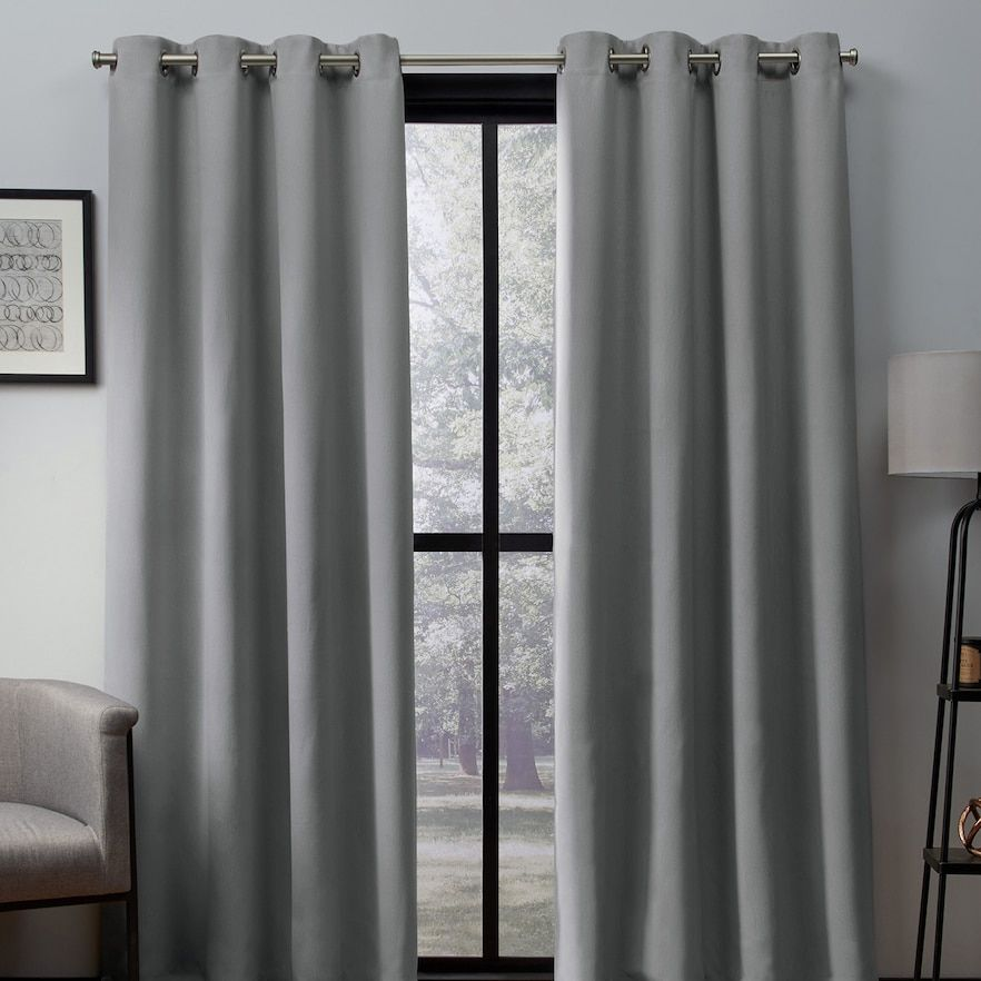 Exclusive Home 2 Pack Heath Textured Woven Blackout Window