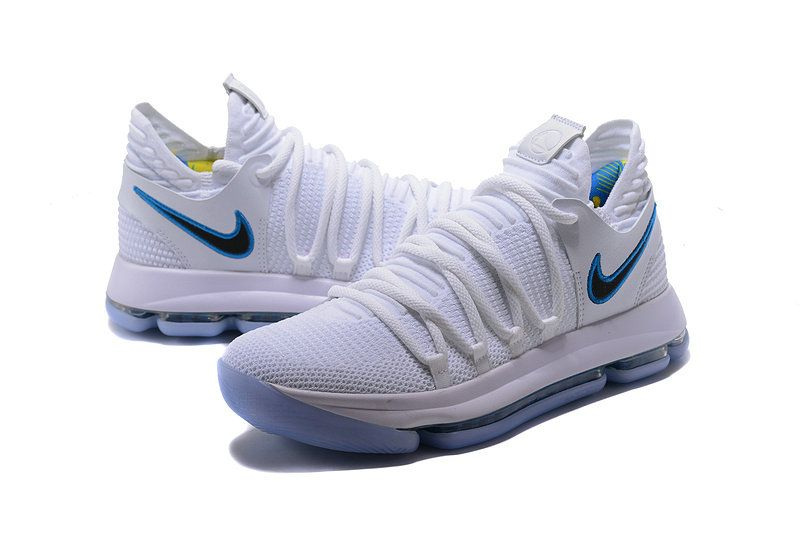 buy popular a7bb0 44010 Kevin Durant Nike KD 10 Authentic Opening Night White Game Royal-University  Gold