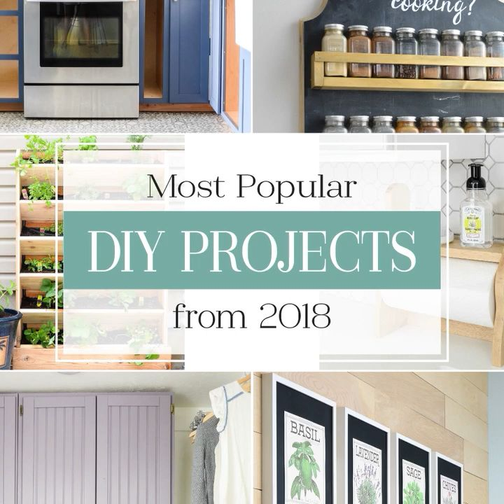 Popular DIY projects to inspire you! Set a resolution to make your home amazing in the new year. Housefulofhandmade.com   #homedecor #diy #diyhomedecor #organization #remodeling