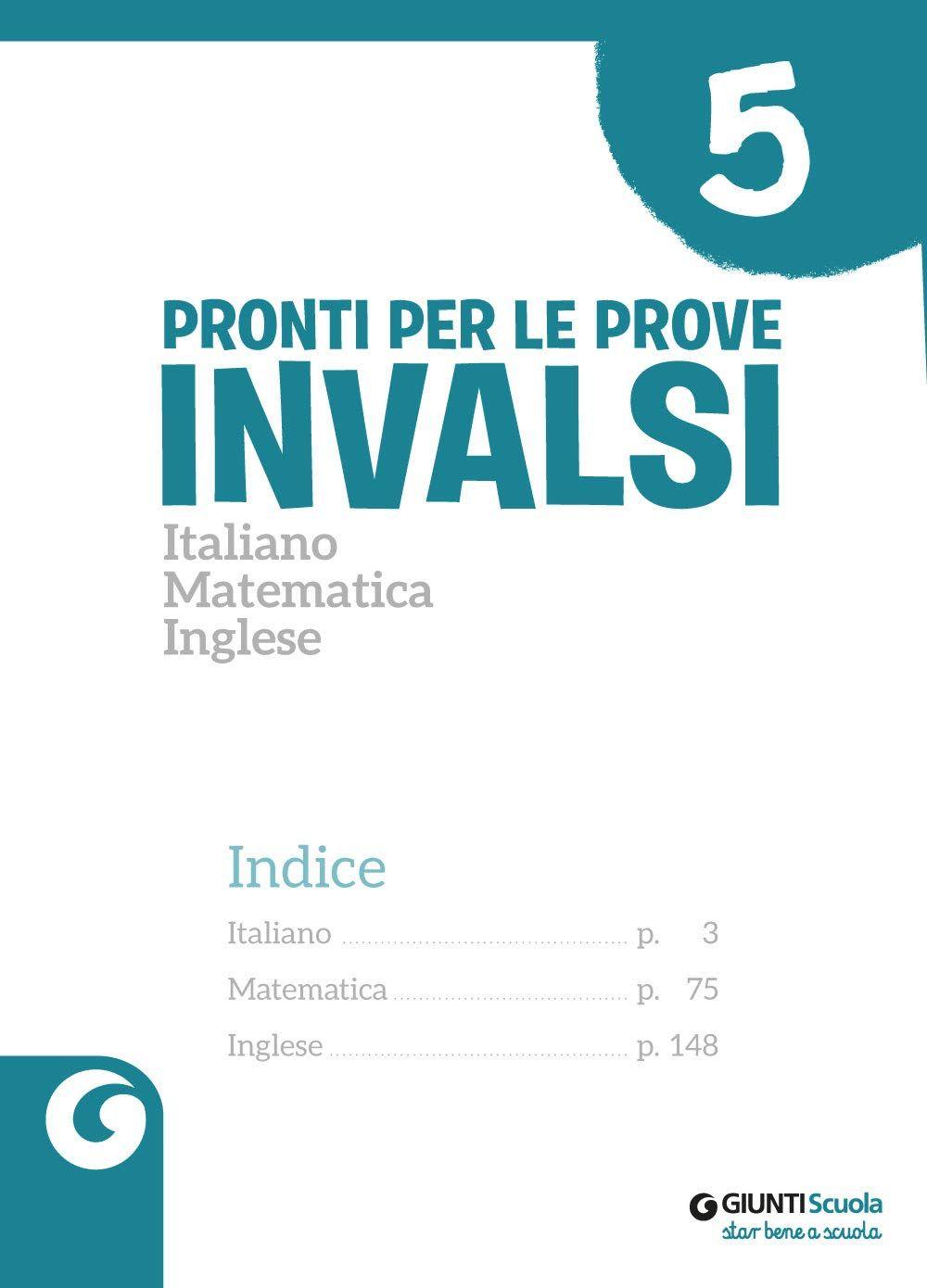Pronti Per Le Prove Invalsi Italiano Matematica Inglese Per La