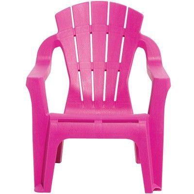 Fauteuil de jardin plastique pour enfant rose | MA CLASSE DE REVE ...