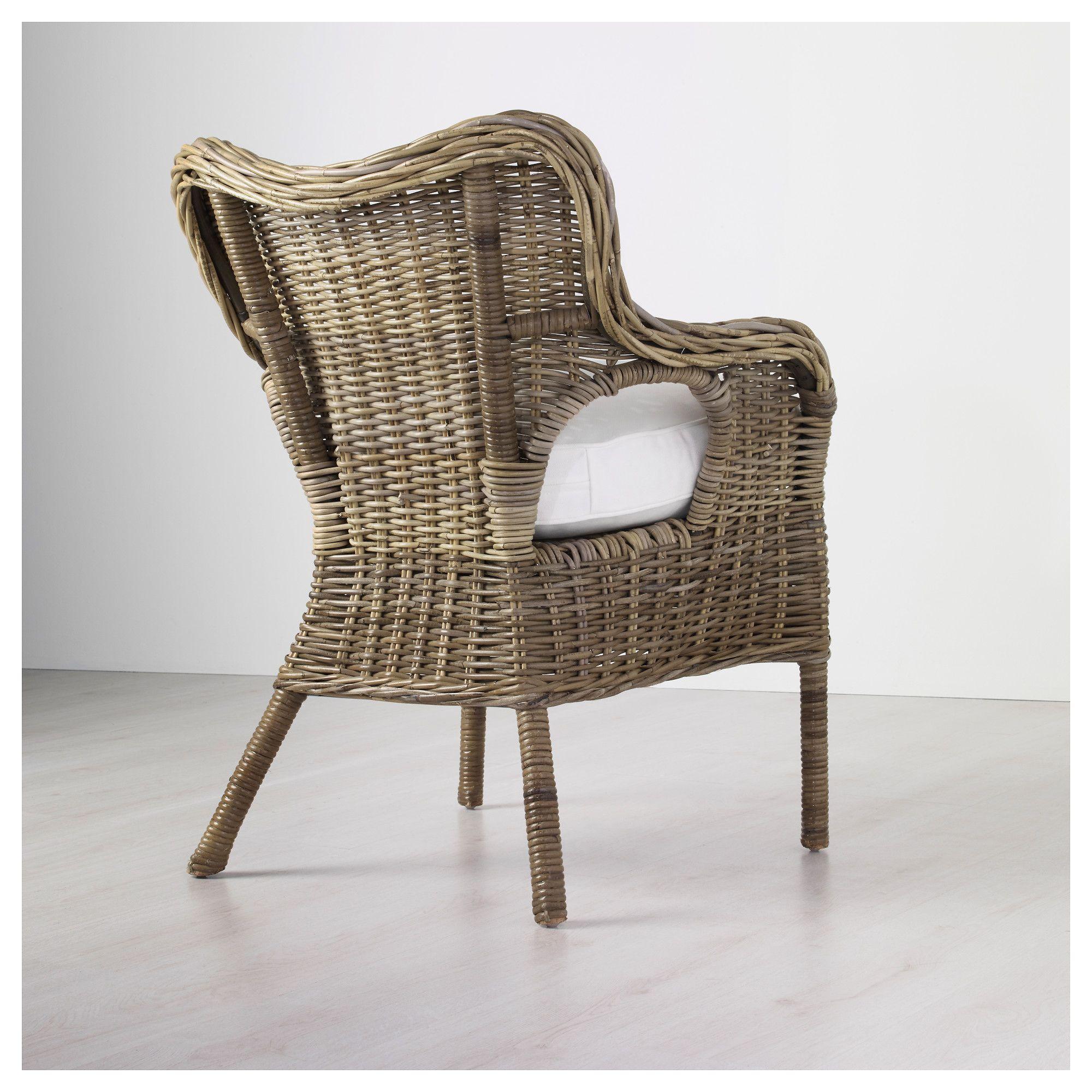 IKEA BYHOLMA Armchair gray, white Grey armchair, Blue