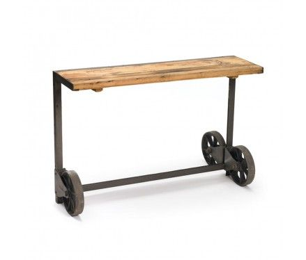Industrial Console Table.