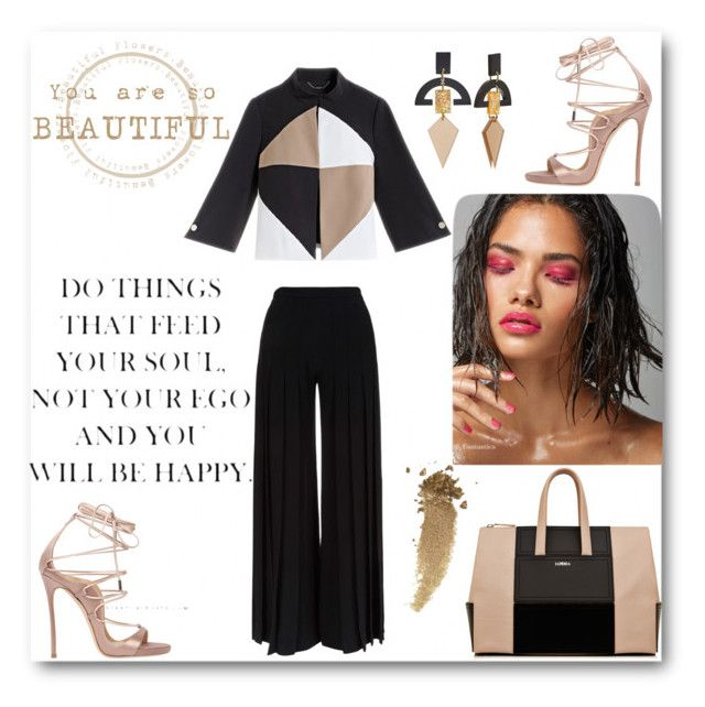 """""""black and nude!!!!!!"""" by honeyerad ❤ liked on Polyvore featuring Marco de Vincenzo, Dsquared2 and Gucci"""