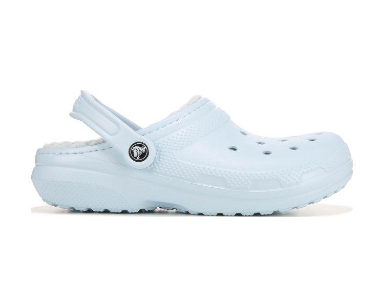 Crocs classic fuzz lined clog mineral blue famous