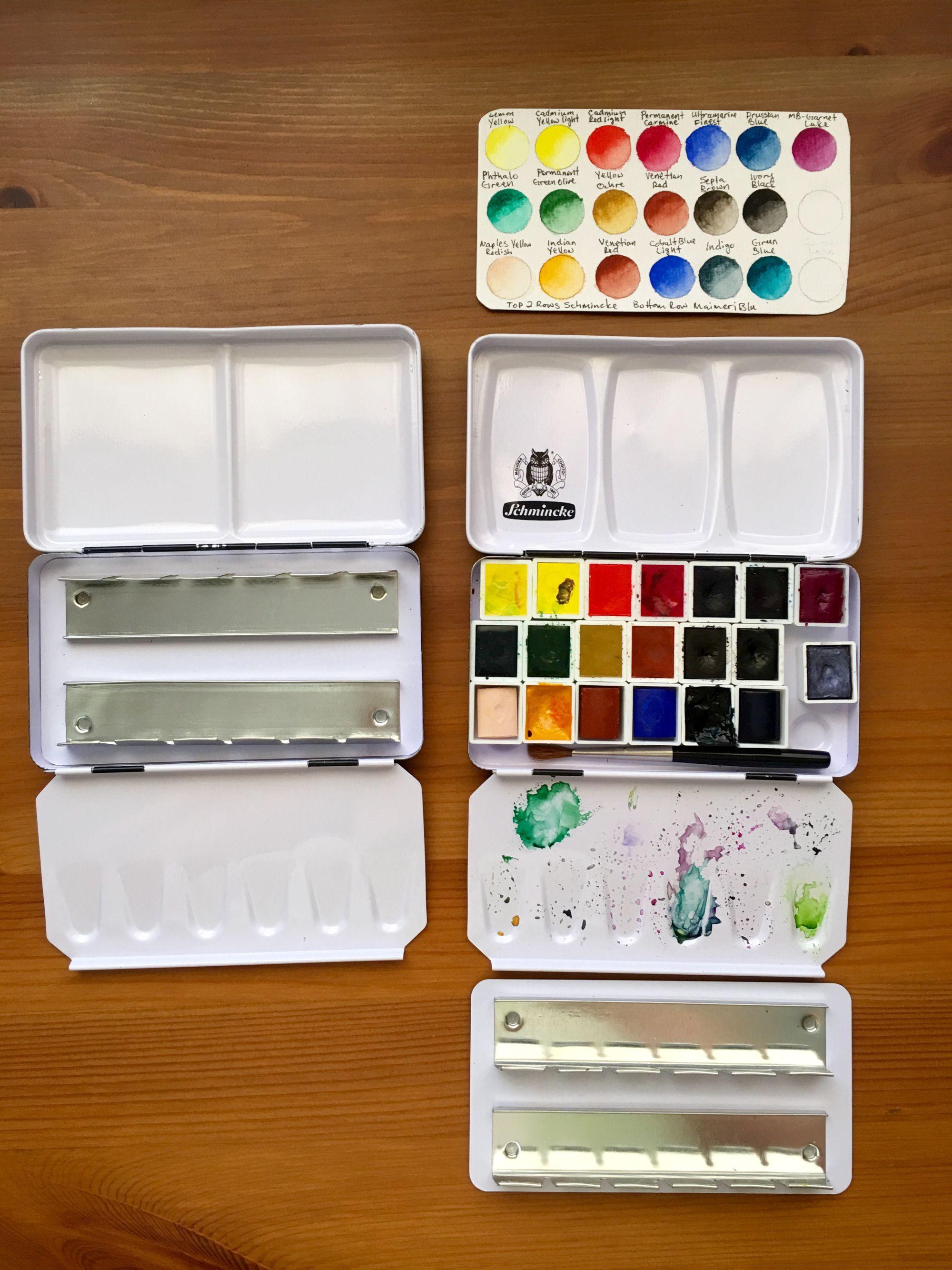 Doodlewash Review Metal Travel Palettes Watercolor Pallet