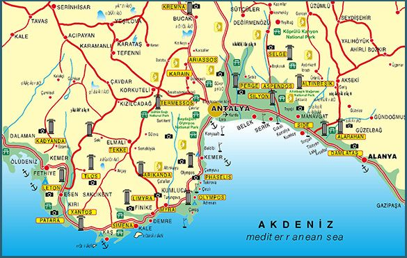 Antalya Haritasi Ve Antalya Uydu Goruntuleri Antalya Harita