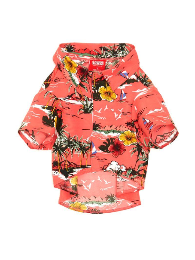 Lowes Dog Hawaiian Shirt Coral Island Sunset | Dog shirt, Hawaiian ...