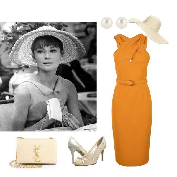 42++ Audrey hepburn orange dress ideas