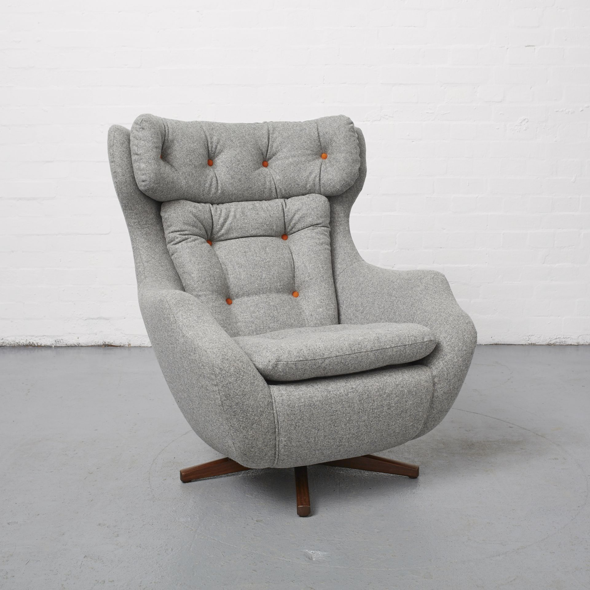 Reloved Parker Knoll 1028 Statesman Moon \u0026 Sons 100% Wool Fabric ...