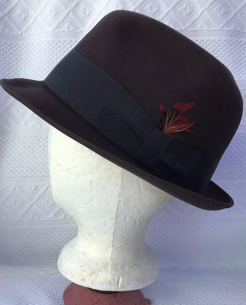 ee47a95fe66 Brown Fedora Premier Knox Mens HAT Vintage Fedora Hat  fashion  clothing   shoes  accessories  mensaccessories  hats (ebay link)