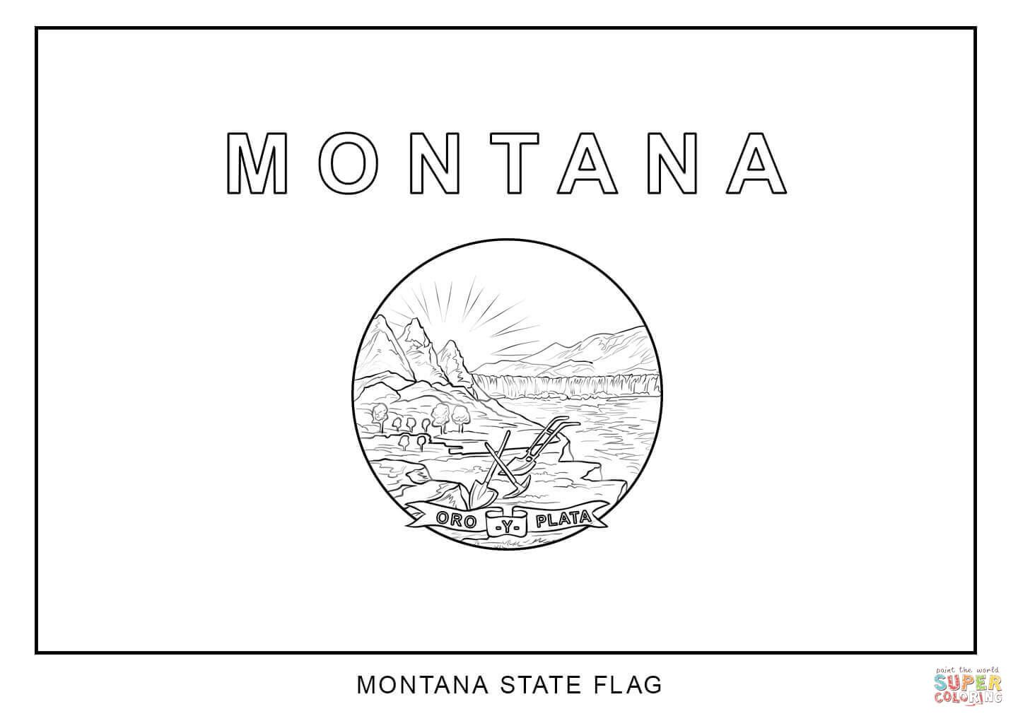 Pin By Jen Worky On Cute Flag Coloring Pages State Flags Montana State