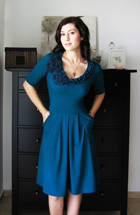 Secret Garden Bridesmaid Dress /Cocktail Dress / Formal Dress / Short Or Long Sleeves. Fall / Winter / Summer Dress / Custom Dress