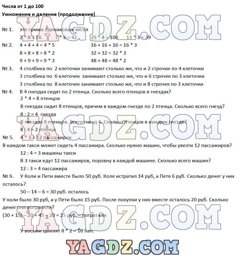 Информатика домашнее задание 4 класс