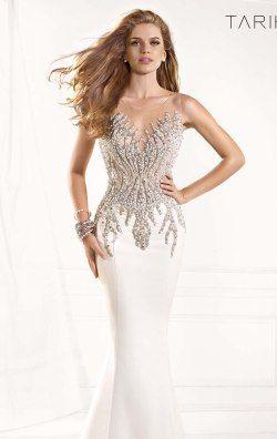 Beaded Gown by Tarik Ediz 93029