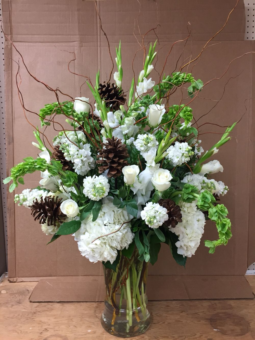 Wedding centerpiece alter flowers ceremony winter