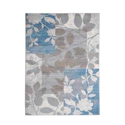 Albion Floral Blue Area Rug Area Rugs Blue Area Rugs