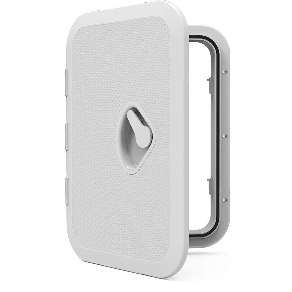 """PLASTICA SEAFLO MARINE DECK Portelli PORTELLO di ACCESSO COPERCHIO 14.75 """"X 10.6"""" WHITE 270mm x 375mm"""
