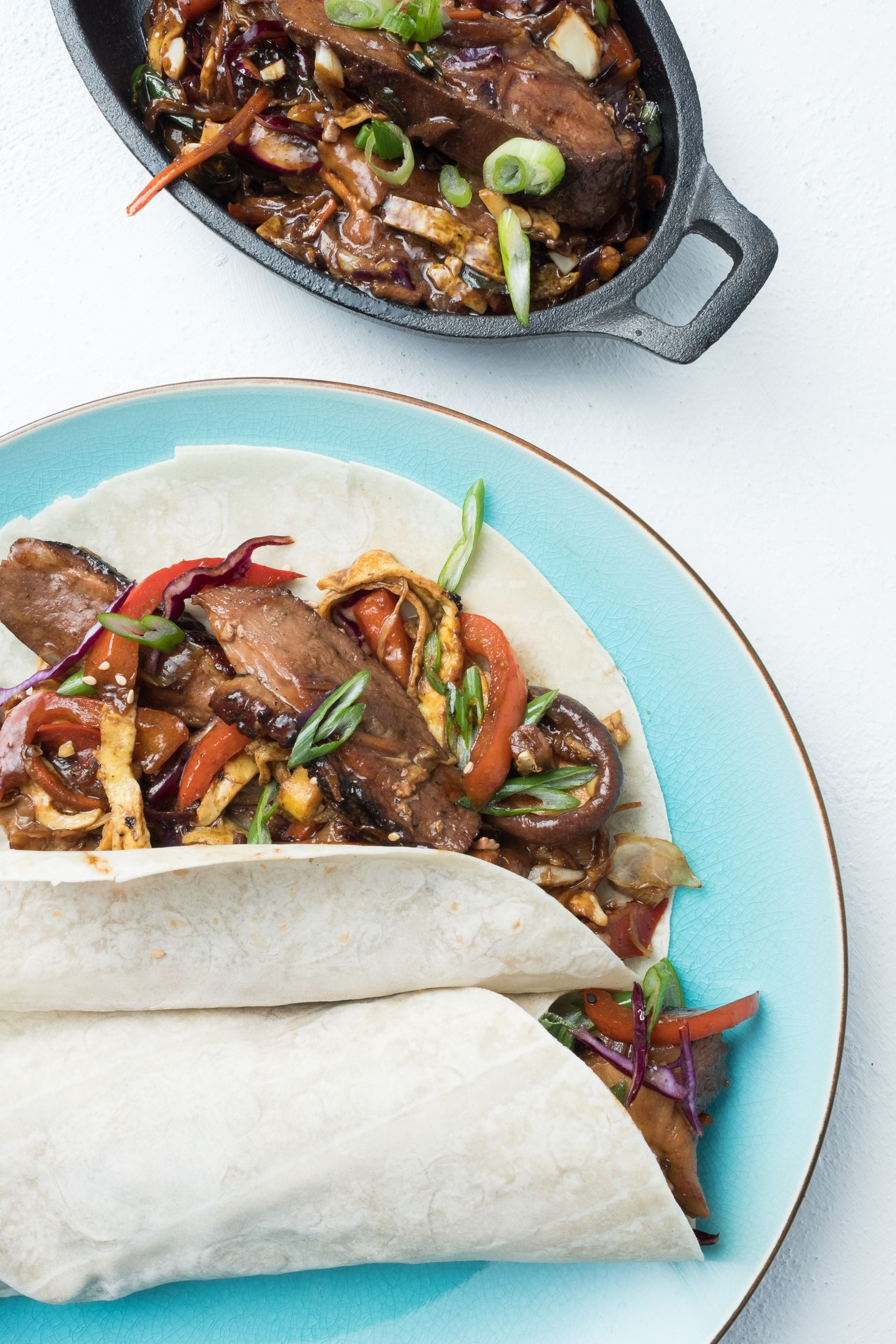 Less than 450 calories - Moo Shu is a traditional meal from northern China packed with shiitake mushrooms, ginger and garlic for a finger-licking dinner you're not ready to forget!
