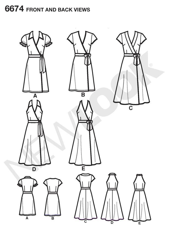 NL6674 LINE | moldes de costura | Pinterest | Costura, Vestidos y Moldes