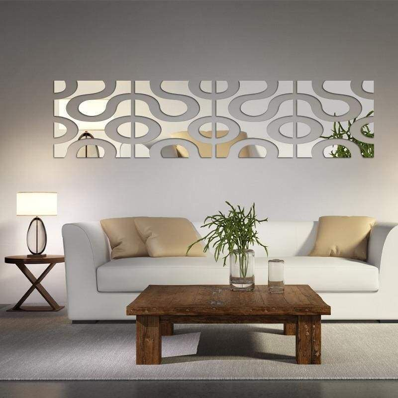 Mirrored Linkage Wall Decoration Diy Living Room Decor Wall Decor Living Room Living Room Decor Cozy Living room mirror wall decor