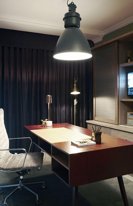 Gentlemen | Study | Work from home | Desk | Oak | grey & purple ...
