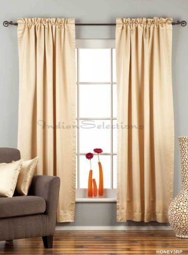 golden rod pocket 90 blackout curtain drape panel 84 piece by indian selections 54. Black Bedroom Furniture Sets. Home Design Ideas
