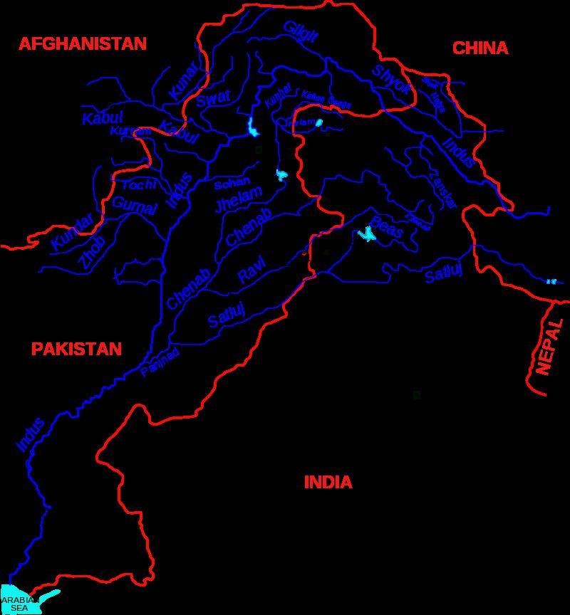 Indus River Basin Maps Graphs Indus