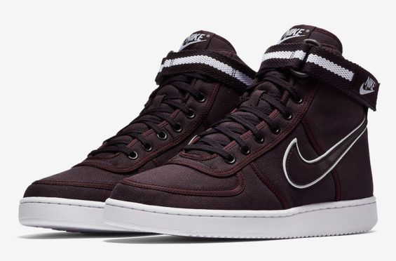 Nike Mens Vandal High size 13 Canvas Black White High Top Sneaker *NO STRAP*