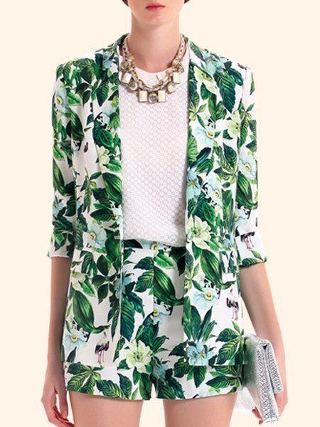 Floral Printed Stylish Lapel Blazers #ClothingOnline #PlusSizeWomensClothing #CheapClothing #FashionClothing #womenswear #sexydress #womensdress #womenfashioncasual #womensfashionforwork #fashion #womensfashionwinter