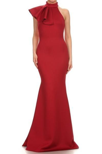 Long Side Ruffle Dress