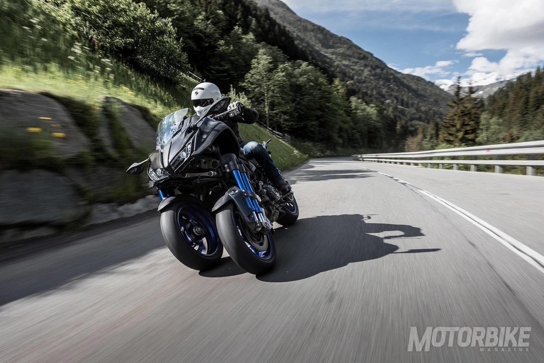 prueba yamaha niken  primera moto de tres ruedas y m u00e1s de 100 cv