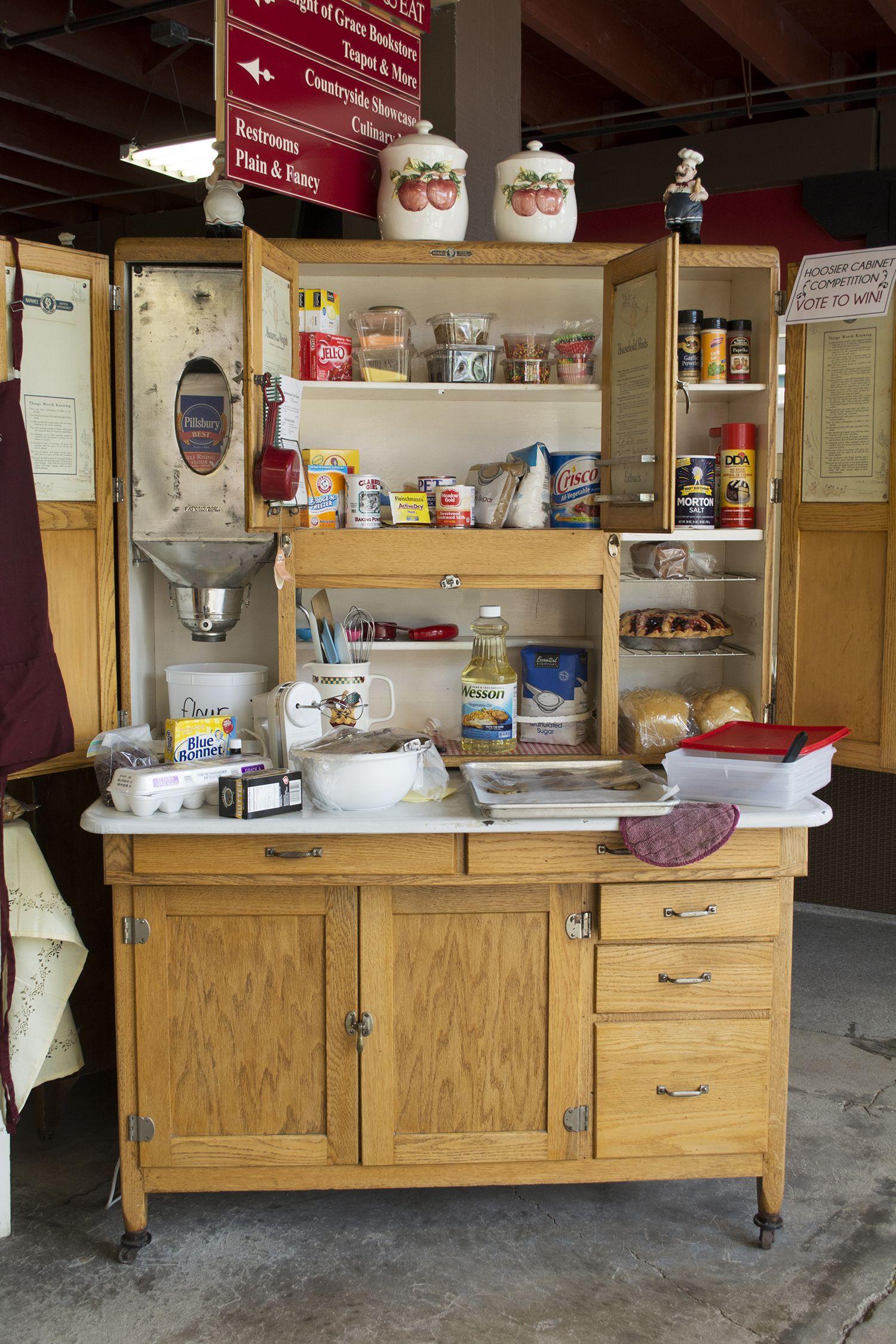Hoosier Cabinet Display at Nappanee Bakery | Hoosier ...