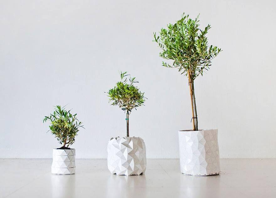 Chậu bông giấy có thể trồng cây. Nghệ thuật Origami của người Nhật.  -------------------------------------- http://iconicvn.com