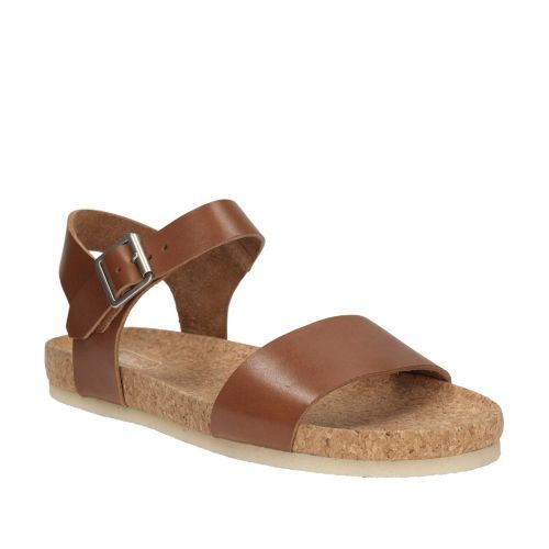 Get Comfortable Clarks Women's Dusty Soul Womens Dark Tan Leather Clarks Womens Sandals