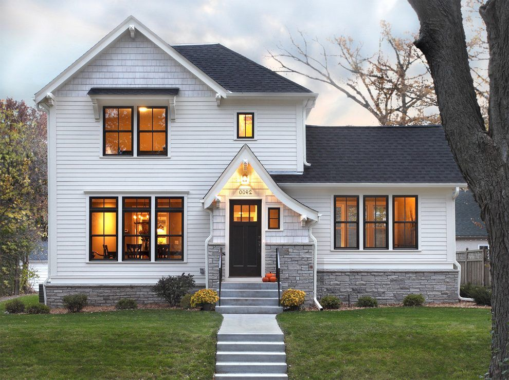 Correct Selection At The Perfect Time Matters A Lot Know More About The Selection Of Your W White Exterior Houses White House Black Windows Black Window Trims