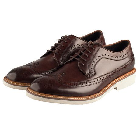 Chaucer Calf Leather Brogue // Brown men's dress shoes