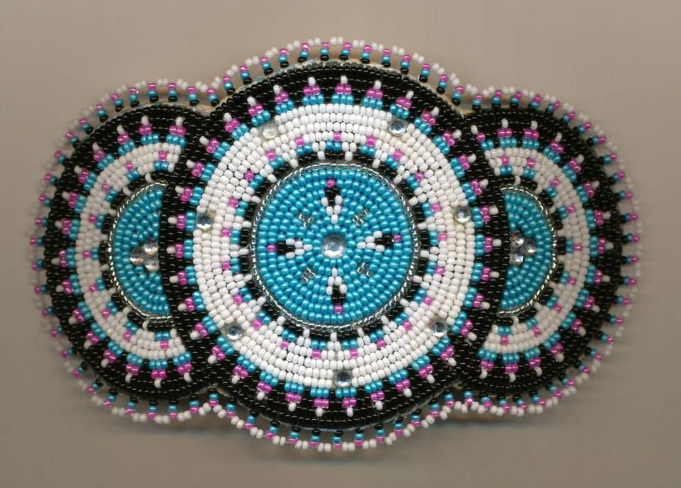 Native american beaded rosettes strips headbands think, what