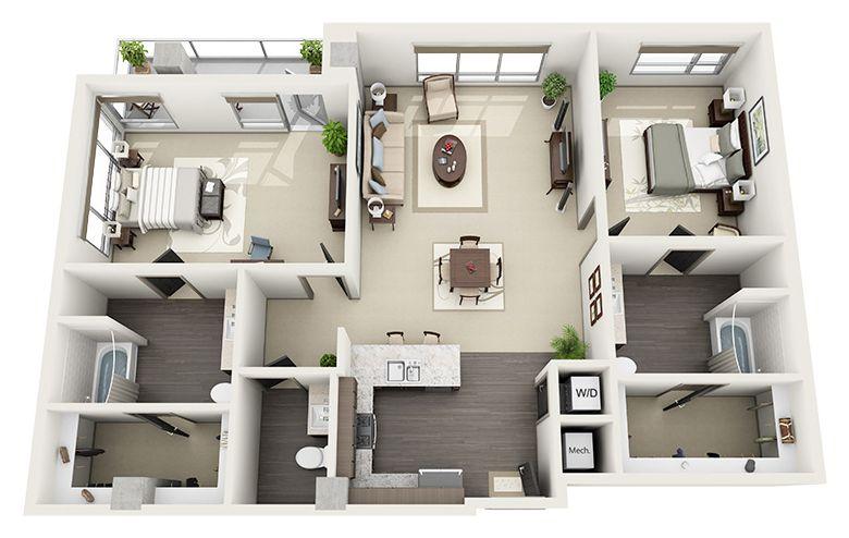 Spacious Floor Plans Luxury Apartments In Hollywood 1600 Vine