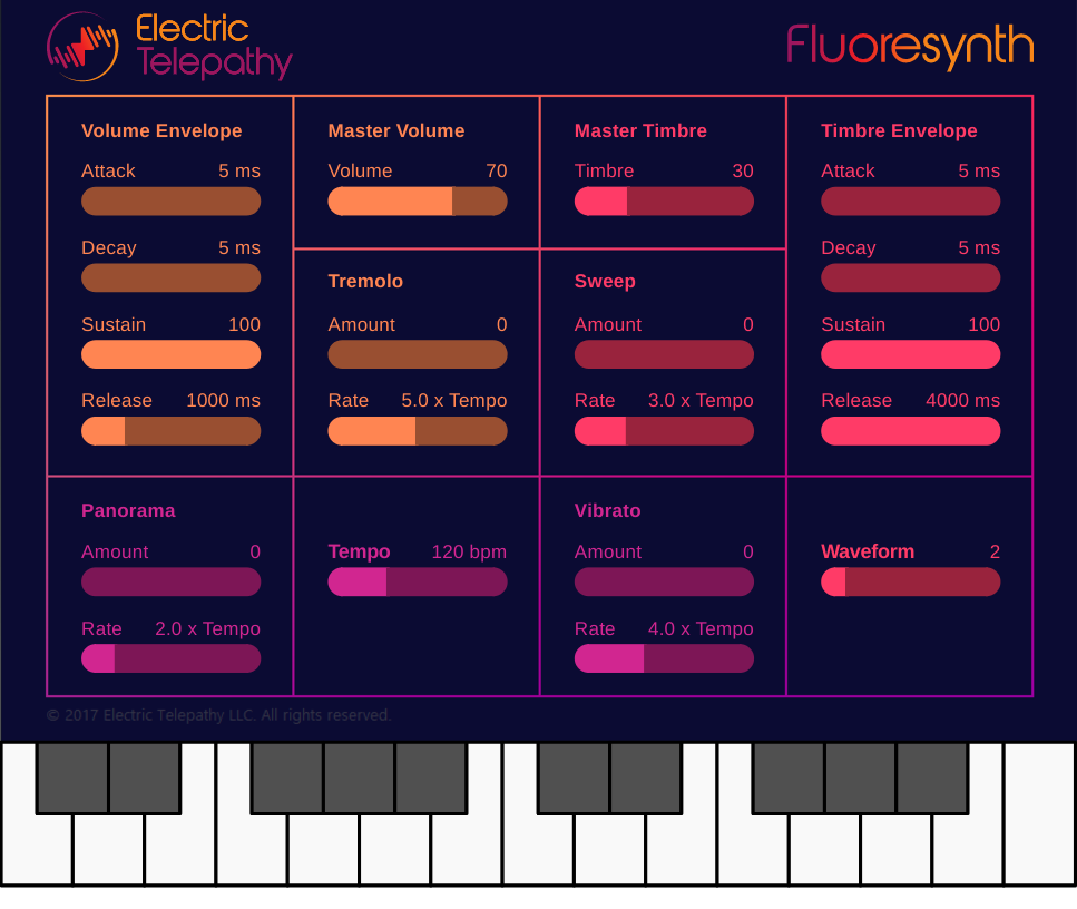 Free Online Synthesizer - Fluoresynth in 2019 | Fluoresynth