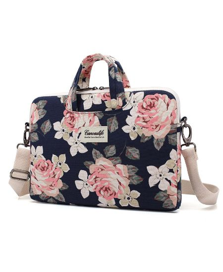 93b2db0b5283 Rose Floral Laptop Carrying Bag | College Graduation Gift Ideas for Girls