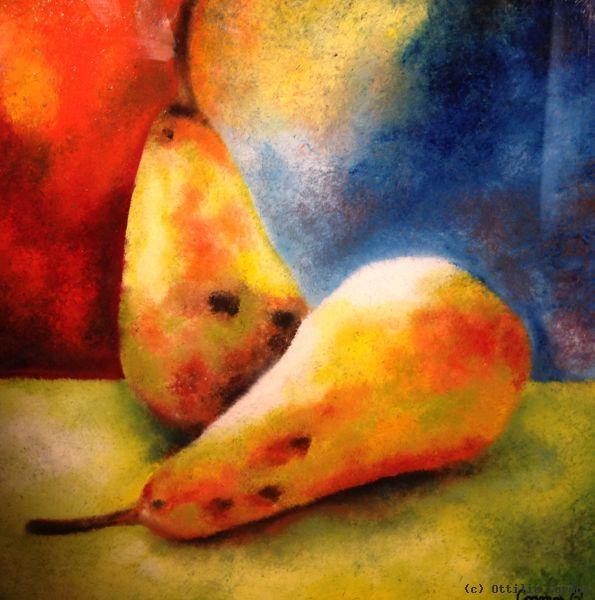 Pears Hinterglasmalerei Von Ottilia Cormos At Artists De Kunstler Kunst Und Kunstwerke Farbe Fur Glas Kunst Online Kunstwerke
