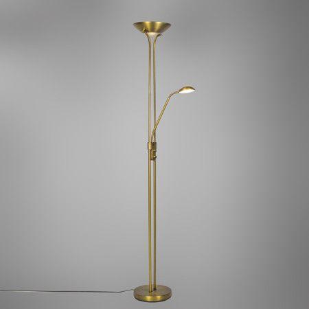 Stehleuchte Diva LED 2 messing #Angebote #Sale #Ausverkauf - wohnung mit deckenfluter einrichtern modern