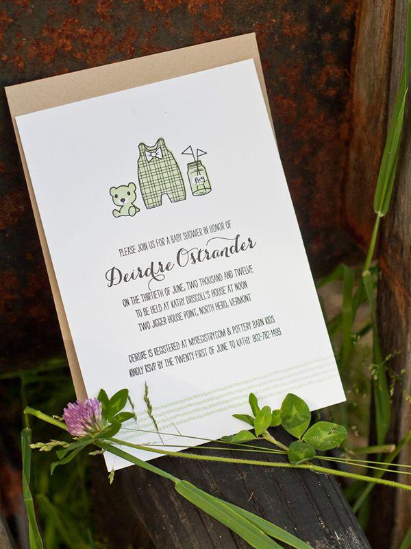 Southern Charm Letterpress Baby Shower Invitation on Behance | typo ...