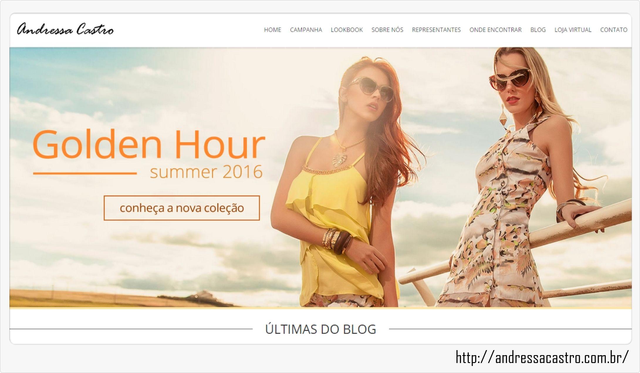 Gente linda, nosso novo site entrou ao ar!!! Ele conta com um visual moderno e de fácil acesso a todas as nossas redes. Algumas abas ainda estão em manutenção, mas você já pode encontrar nosso catálogo, lookbook, e em breve estarão disponíveis a loja virtual e contatos dos nossos representantes. Acesse http://andressacastro.com.br/ #GoldenHour #verão #catálogo #lookbook #fashion #fotografia #look #love #likeandressacastro #andressacastro #modafeminina…