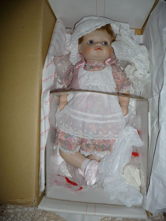 "Porcelain Jessica doll by Connie Walser Derek from Hamilton Collection 20"" ( inches )"