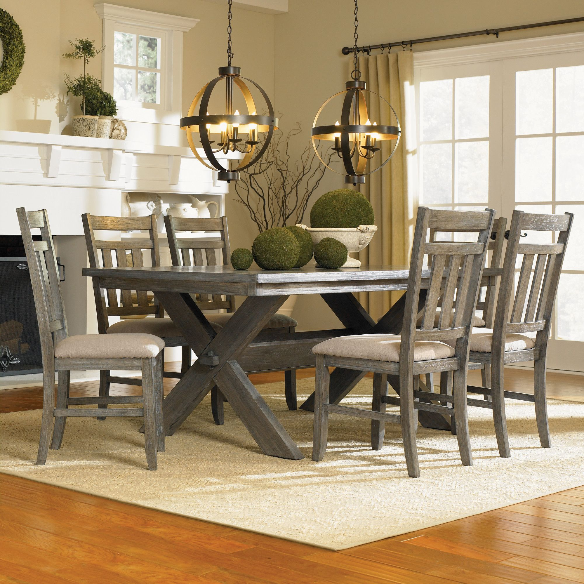 Powell Turino 5 Piece Dining Set Reviews Wayfair Dining Room Sets Rectangle Dining Table Distressed Dining Table