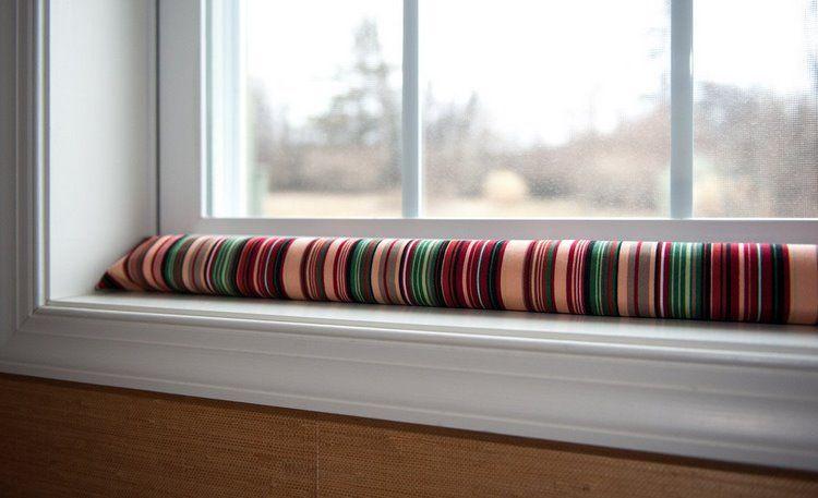 Zugluftstopper selber machen – DIY Windstopper für Ihre Tür oder Fenster zuhause basteln