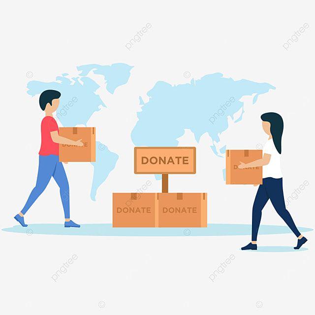 التبرع بالمساعدات الإنسانية الخيرية في Dddesign مسطحة التصميم توضيح Png والمتجهات للتحميل مجانا In 2021 Charity Humanitarian Poster